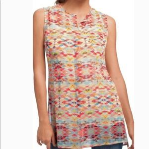 CAbi | Sheer Avery Colorful Aztec Tunic #760